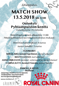 HSKP:n terrierijaoston Match Show @ Oulunkylän kenttä, Helsinki | Helsinki | Suomi